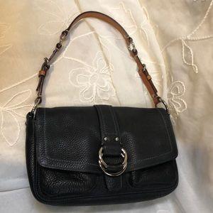 Coach Black Pebbled Leather handbag